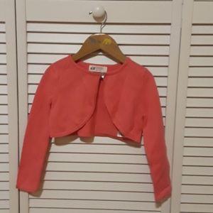 H&M girls croped cardigan